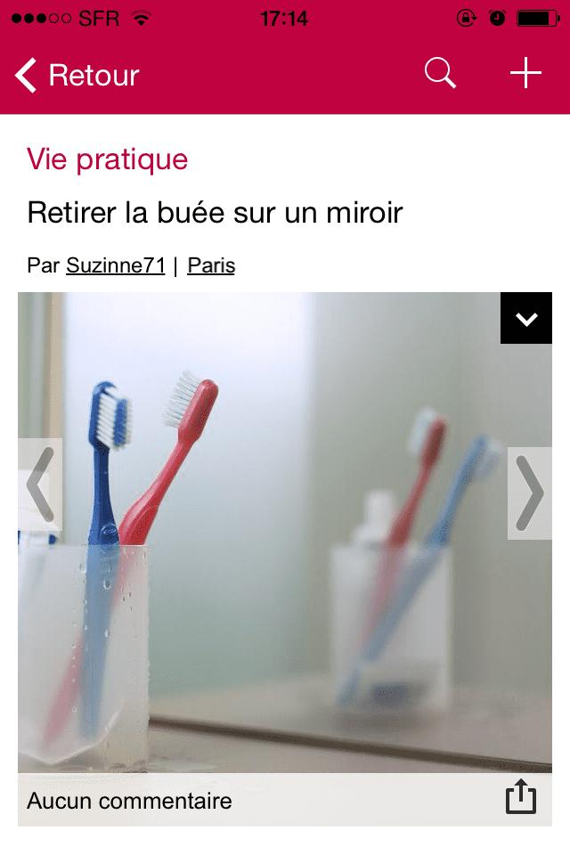 Une astuce POP pour retirer la buée de son miroir